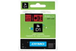 Dymo D1 40917, S0720720, 9mm x 7m, czarny druk / czerwony podkład, taśma oryginalna