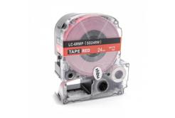 Epson LC-SD24RW, 24mm x 8m, biały druk / czerwony podkład, taśma zamiennik
