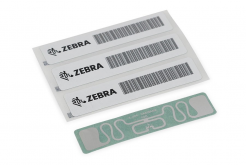 "Zebra 10027755 RFID Label, 45x13mm, Printable White PET, 3"" core, 800/roll,"