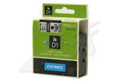 Dymo D1 45800, S0720820, 19mm x 7m, czarny druk / przezroczysty podkład, taśma oryginalna