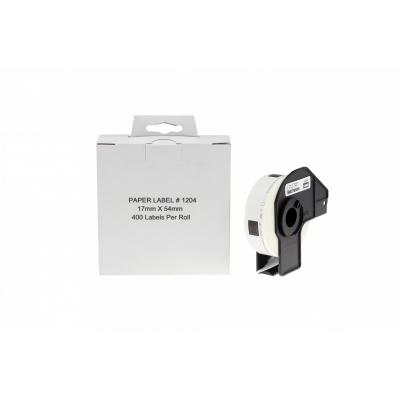 Brother zamiennik DK-11204, 17mm x 54mm, etykiety papierowe