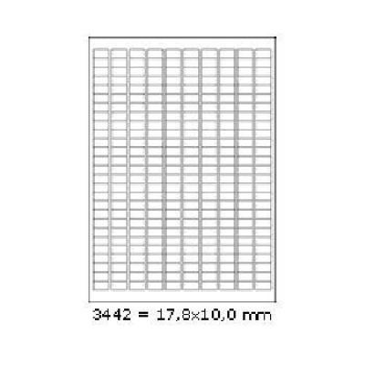 Samoprzylepne etykiety 17,8 x 10 mm, 270 etykiet, A4, 100 arkuszy