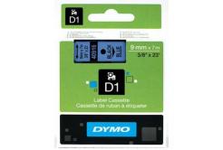 Dymo D1 40916, S0720710, 9mm x 7m czarny druk / niebieski podkład, taśma oryginalna