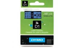 Dymo D1 45016, S0720560, 12mm x 7m czarny druk / niebieski podkład, taśma oryginalna