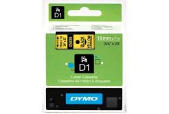 Dymo D1 45808, S0720880, 19mm x 7m, czarny druk / żółty podkład, taśma oryginalna