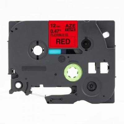 Taśma zamiennik Brother TZ-FX435 / TZe-FX435, 12mm x 8m, flexi, biały druk / czerwony podkład