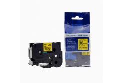 Taśma zamiennik Brother TZ-661 / TZe-661, 36mm x 8m, czarny druk / żółty podkład