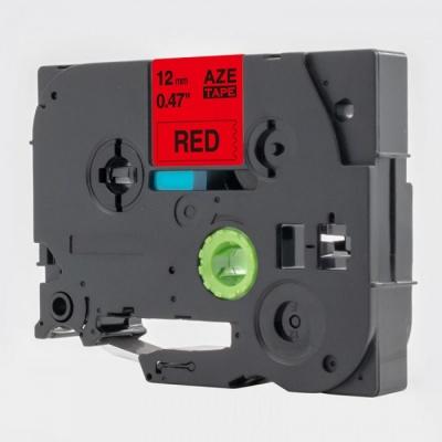 Brother TZe-V431, 12mm x 5,5m, czarny druk / czerwony podkład, vinyl, taśma zamiennik