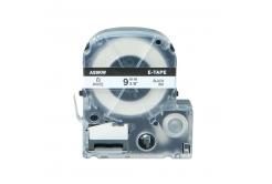 Epson LC-SS9KW, 9mm x 8m, czarny druk / biały podkład, taśma zamiennik