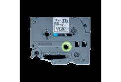 Brother TZ-MPSL31 / TZe-MPSL31, 12mm x 4m, czarny druk / srebrny podkład, taśma oryginalna