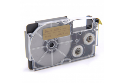 Taśma zamiennik Casio XR-9GD1 9mm x 8m czarny druk / złoty podkład