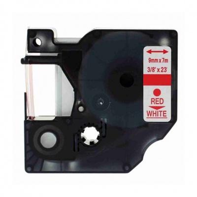 Taśma zamiennik Dymo 40915, S0720700, 9mm x 7m czerwony druk / biały podkład