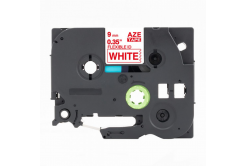 Taśma zamiennik Brother TZ-FX222 / TZe-FX222, 9mm x 8m, flexi, czerwony druk / biały po