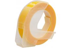 Dymo Omega, 9mm x 3m, biały druk / żółty podkład, taśma zamiennik
