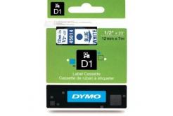 Dymo D1 45014, S0720540, 12mm x 7m niebieski druk / biały podkład, taśma oryginalna