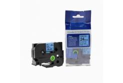 Taśma zamiennik Brother TZ-551 / TZe-551, 24mm x 8m, czarny druk / niebieski podkład