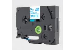 Taśma zamiennik Brother TZ-FX233 / TZe-FX233, 12mm x 8m, flexi, niebieski druk / biały podkład