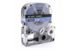 Epson LC-SD9BW, 9mm x 8m, biały druk / niebieski podkład, taśma zamiennik