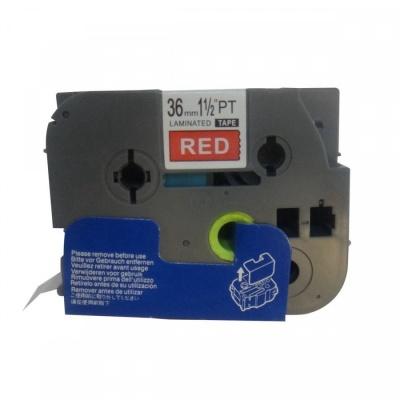 Taśma zamiennik Brother TZ-465 / TZe-465, 36mm x 8m, biały druk / czerwony podkład