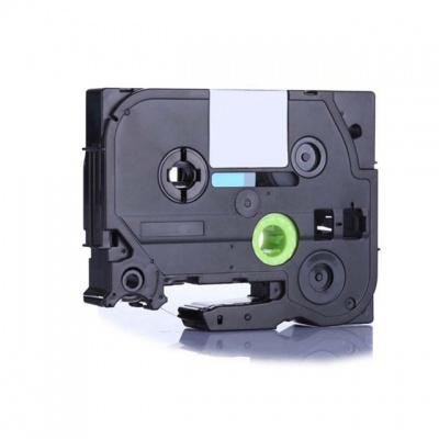 Taśma zamiennik Brother TZ-911 / TZe-911, 6mm x 8m, czarny druk / srebrny podkład