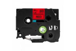 Taśma zamiennik Brother TZ-S461 / TZe-S461, 36mm x 8m, mocno klejący, czarny druk / czerwony podkład
