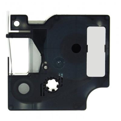 Taśma zamiennik Dymo 18443, 9mm x 5, 5m czarny druk / biały podkład, vinyl