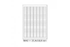 Samoprzylepne etykiety 25,4 x 10 mm, 189 etykiet, A4, 100 arkuszy