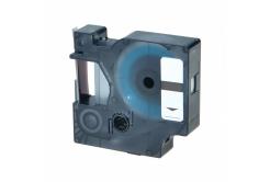 Dymo 43611, 6mm x 7m, niebieski druk / przezroczysty podkład, taśma zamiennik
