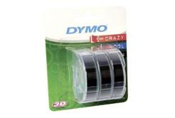 Dymo S0847730, 9mm x 3m biały druk / czarny podkład, 3szt., taśma oryginalna