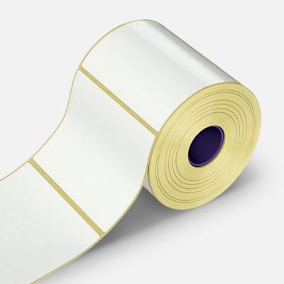 Samoprzylepne etykiety 75x60 mm, 1000 szt., papírové pro TTR, rolka
