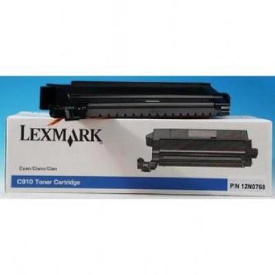 Lexmark 12N0768 błękitny (cyan) toner oryginalny