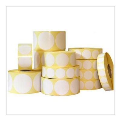 Samoprzylepne PP (polypropylen) etykiety, kulaté ?35mm, 1000 szt., pro TTR, biały, rolka
