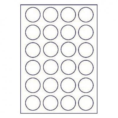 Samoprzylepne etykiety 45 x 45 mm, 24 etykiet, A4, 100 arkuszy
