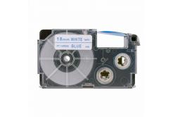 Taśma zamiennik Casio XR-18WEB 18mm x 8m niebieski druk / biały podkład