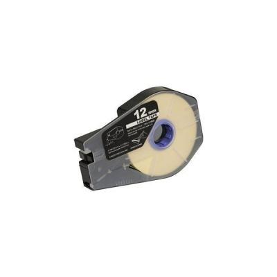 Taśma zamiennik Canon / Partex M-1 Std / M-1 Pro, 12mm x 30m, kazeta, biały