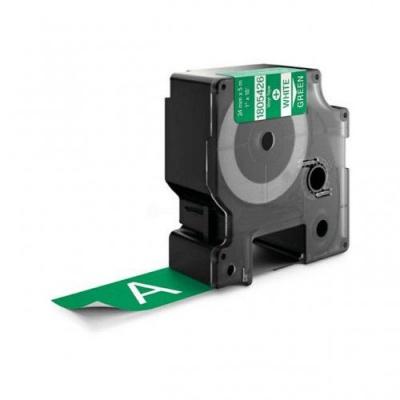 Taśma zamiennik Dymo 1805426, 24mm x 5, 5m biały druk / zielony podkład, vinyl