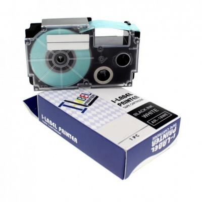 Taśma zamiennik Casio XR-12SR1 12mm x 8m czarny druk / srebrny podkład