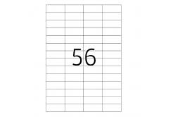 Samoprzylepne etykiety 52,5 x 21,2 mm, 56 etykiet, A4, 100 arkuszy