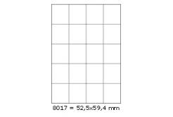 Samoprzylepne etykiety 52,5 x 59,4 mm, 20 etykiet, A4, 100 arkuszy