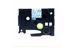 Taśma zamiennik Brother TZ-153 / TZe-153, 24mm x 8m, niebieski druk / przezroczysty podkład