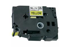 Taśma zamiennik Brother TZ-FX641 / TZe-FX641 18mm x 8m, flexi, czarny druk / żółty podkład