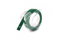 Taśma zamiennik Dymo S0898160, 9mm x 3m, biały druk / zielony podkład