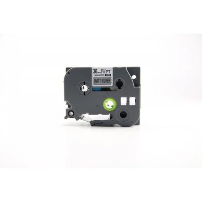 Taśma zamiennik Brother TZ-M961 / TZe-M961, 36mm x 8m, czarny druk / srebrny podkład