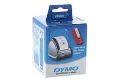 Dymo 99019, S0722480, 190mm x 59mm, białe etykiety papierowe oryginalne