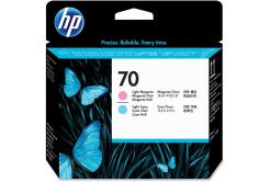 HP 70, C9405A jasno błekitna/jasno purpurowa (light cyan/light magenta) głowica drukująca oryginalna