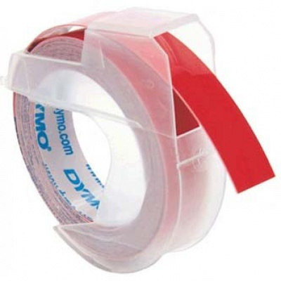 Dymo S0898150, 9mm x 3m, biały druk / czerwony podkład, taśma oryginalna