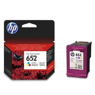 HP 652 F6V24AE kolorowa tusz oryginalna