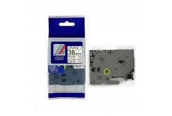 Taśma zamiennik Brother TZ-161 / TZe-161, 36mm x 8m, czarny druk / przezroczysty podkład
