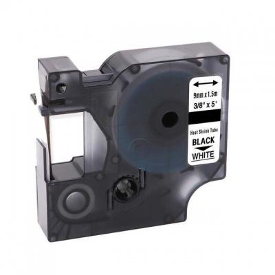Taśma zamiennik Dymo 18053, S0718280, 9mm x 1, 5m czarny druk / biały podkład