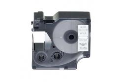 Taśma zamiennik Dymo 18445, 19mm x 5, 5m czarny druk / biały podkład, vinyl